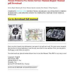 Nissan Primera P12 Wiring Diagram Ceiling Fan Parts Series Service Manual Repair Pdf
