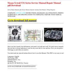 nissan x trail t31 series service manual repair manual pdf download by dernis castan issuu [ 1060 x 1500 Pixel ]
