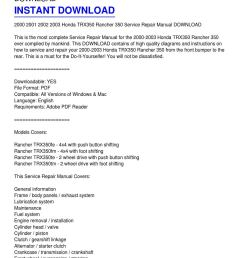 2000 2003 honda trx350 rancher 350 service repair manual download from kevin fowler [ 1159 x 1499 Pixel ]