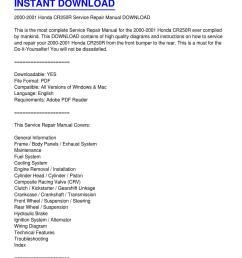 2000 2001 honda cr250r service repair manual download by gloria calhoun issuu [ 1159 x 1499 Pixel ]