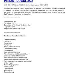 1985 1987 honda atc250sx service repair manual download by phillip serrano issuu [ 1159 x 1499 Pixel ]