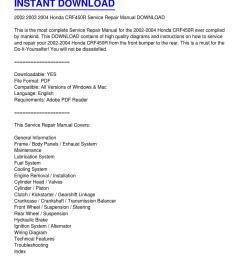 2002 2004 honda crf450r service repair manual download by phillip serrano issuu [ 1159 x 1499 Pixel ]