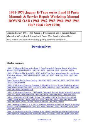 19611970_Jaguar_EType_series_I_and_II_Parts_Manuals