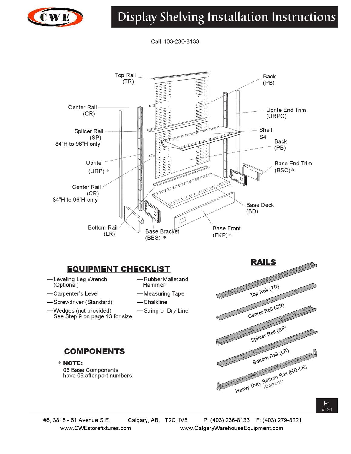 Gondola Setup Instructions By Calgary Warehouse Equipment