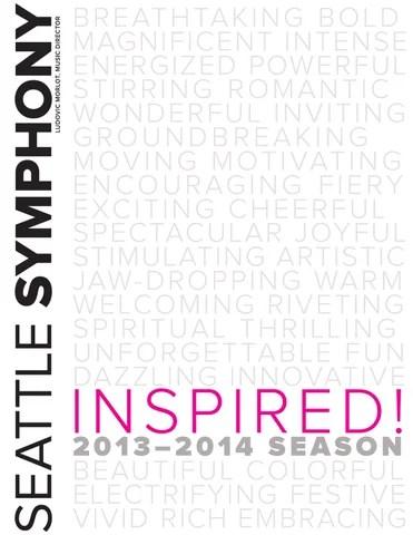 1314 Seattle Symphony Season brochure by Seattle Symphony