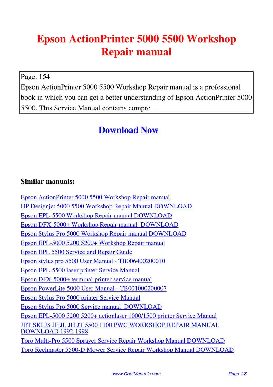 hight resolution of epson actionprinter 5000 5500 workshop repair manual