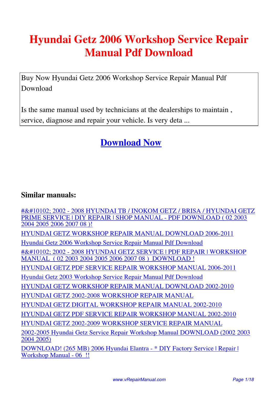 hight resolution of hyundai getz user manual pdf manuals dolpnin