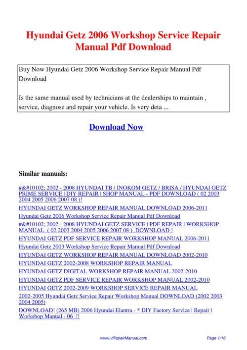 small resolution of hyundai getz user manual pdf manuals dolpnin
