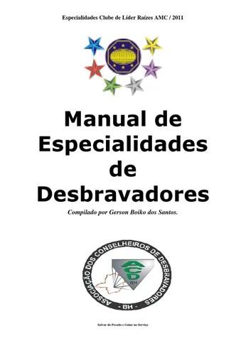 manual de especialidades de desbravador clube de lder