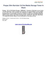 Prepac Slim Barrister Cd Dvd Media Storage Tower In Black ...