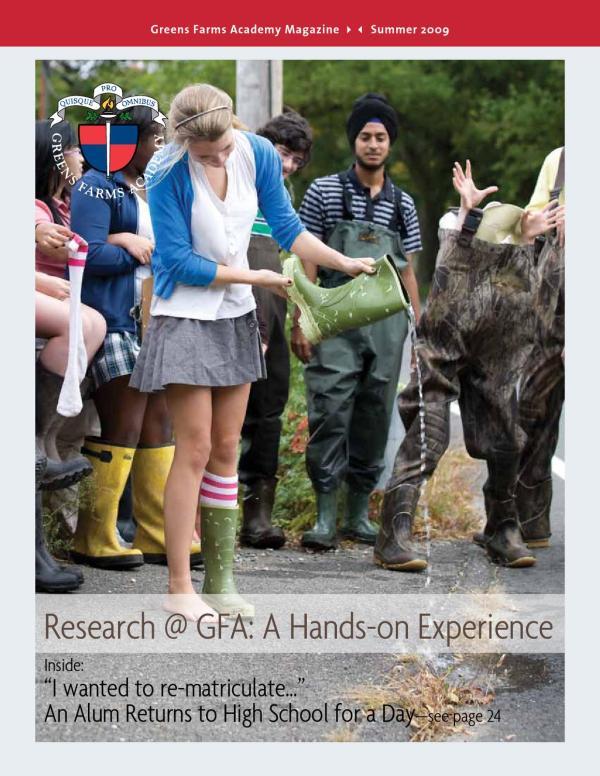 Greens Farms Academy Magazine Summer 2009