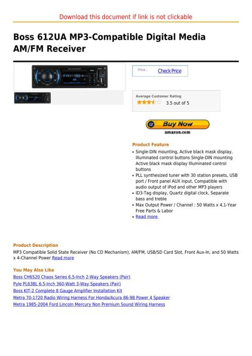 small resolution of boss 612ua mp3 compatible digital media am fm receiver