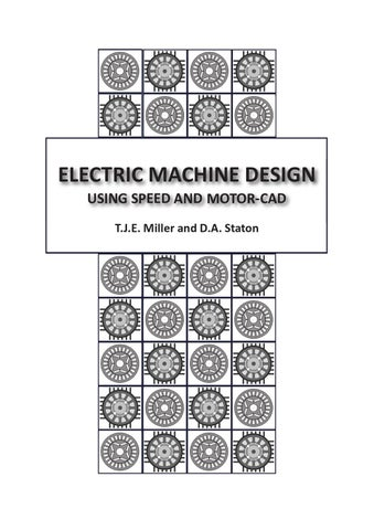 Electric Machine Design using SPEED and Motor-CAD, by T.J