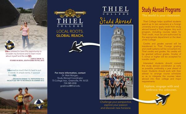 Thiel College Study Brochure - Issuu