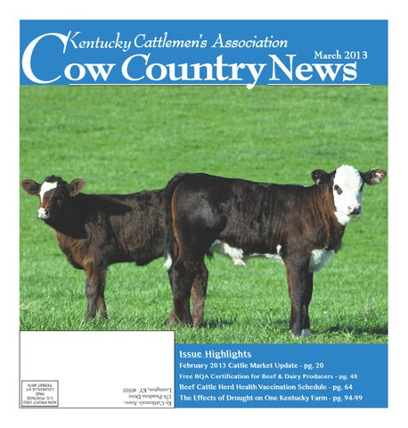 Cow Country News March 2013 by The Kentucky Cattlemen's Association ...