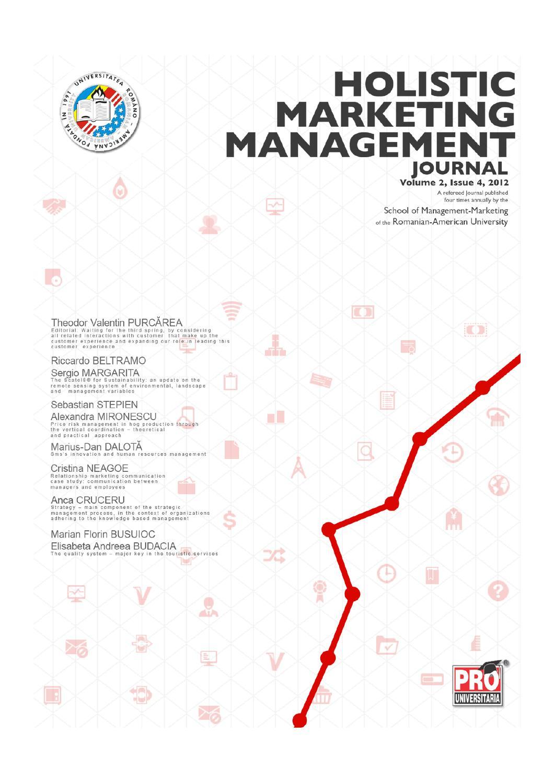 Holistic Marketing Management, Volume 2, Issue 4, Year