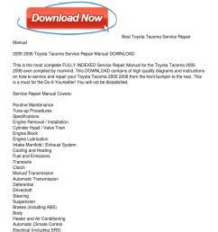 2005 2006 toyota tacoma service repair manual download [ 1159 x 1499 Pixel ]