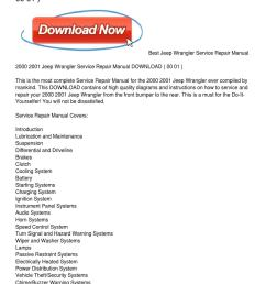 2000 2001 jeep wrangler service repair manual download by marquetta palmer issuu [ 1159 x 1499 Pixel ]