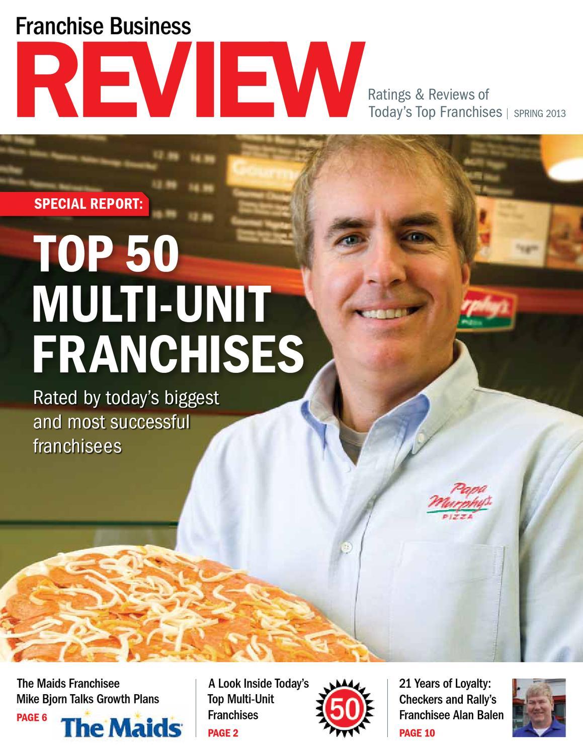 Top 50 Multiunit Franchises By Franchise Business Review