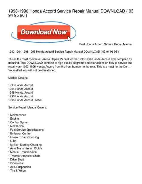 small resolution of 1993 1996 honda accord service repair manual download by whitney roberts issuu