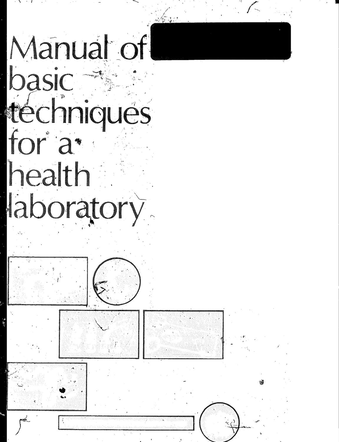 Manual of Basic Techniques for a Health Laboratory by Luis