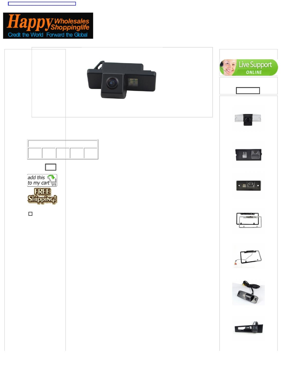Waterproof Rear View Camera fit Citroen C4/ C5 by Rita Xu
