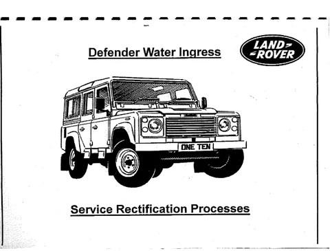 Defender Water Ingress Manual (get rid of the water leaks