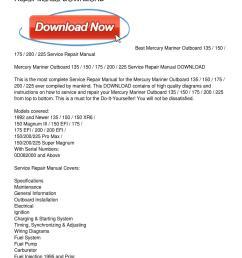 mercury mariner outboard 135 150 175 200 225 xr6 mercury wiring diagram  [ 1159 x 1499 Pixel ]