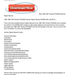 1985 1987 honda atc250sx service repair manual by leonard colmenero issuu honda atc250sx wiring diagram  [ 1159 x 1499 Pixel ]