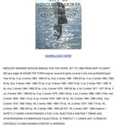 mercury mariner service manual pdf download by svetlana sovereign issuu [ 1060 x 1500 Pixel ]