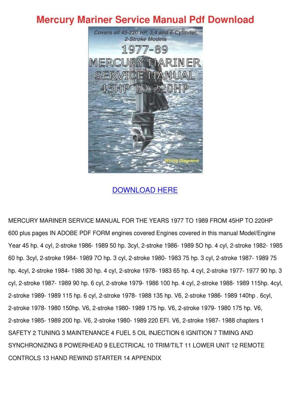 medium resolution of mercury mariner service manual pdf download by svetlana sovereign issuu