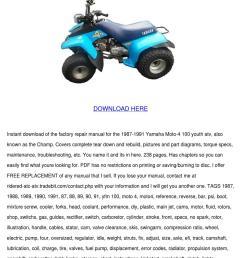 yamaha moto 4 100 champ service manual repair [ 1060 x 1500 Pixel ]