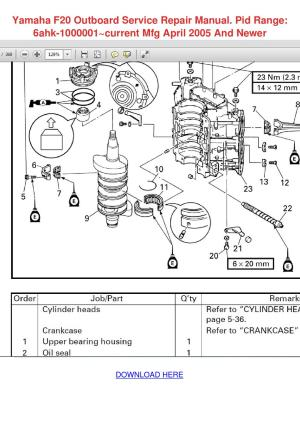Yamaha F20 Outboard Service Repair Manual Pid by Marlen Clague  Issuu