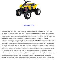 polaris trailblazer 250 400 service manual re [ 1060 x 1500 Pixel ]