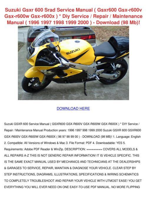 small resolution of suzuki gsxr 600 srad service manual gsxr600 g