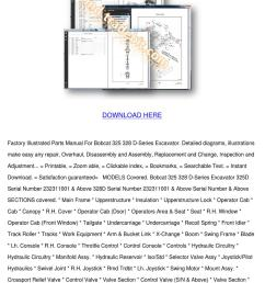 bobcat 325 328 d series parts manual for exca [ 1060 x 1500 Pixel ]