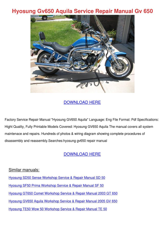 ... Array - hyosung aquila 650 gv650 workshop repair manual download auto  rh wiring diagram edu fr