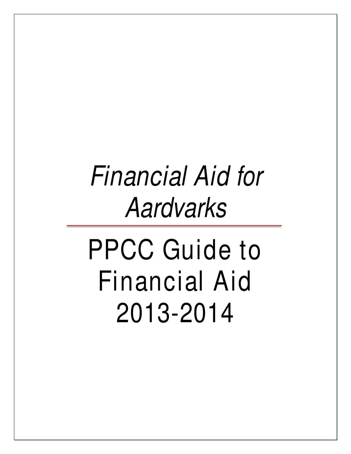 PPCC Guide to Financial Aid by Pikes Peak Community