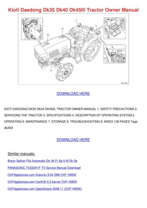 small resolution of  kioti dk tractor wiring diagram on kioti lk3504 tractor kioti ck30 tractor