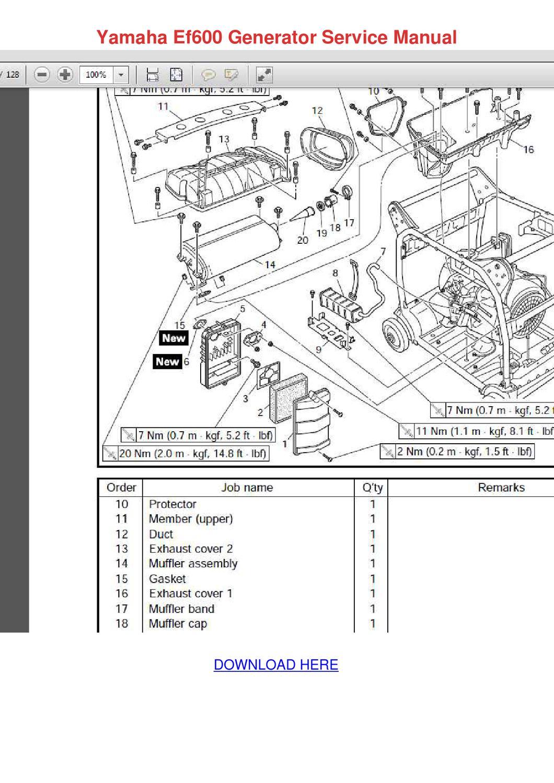 Yamaha Ef600 Generator Service Manual by Barbera Cutten
