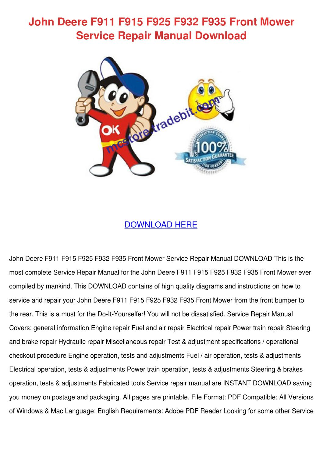hight resolution of john deere f f f f f front mow by norene jeffry issuu john deere automatic wiring diagram