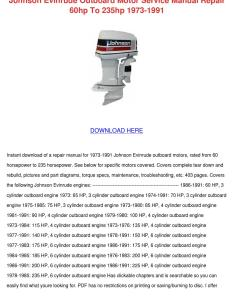 also johnson evinrude outboard motor service manua by norene jeffry issuu rh