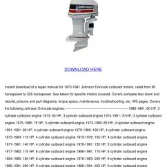 1976 Evinrude 70 Hp Wiring Diagram Pioneer Deh 1050e Johnson Outboard Motor Service Manua By Norene
