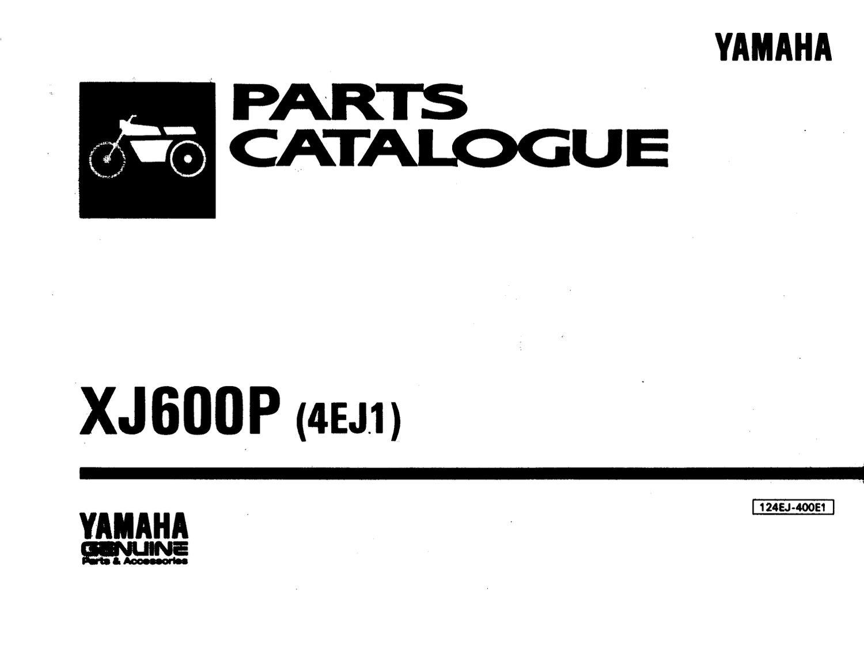 Yamaha XJ 600 Despiece , catalogo de Partes by agustina