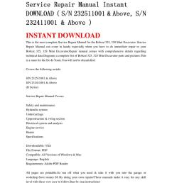 bobcat 325 328 mini excavator service repair manual instant download sn 232511001 above sn 232 by chen wei issuu [ 1060 x 1500 Pixel ]