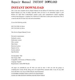 bobcat 873 skid steer loader service repair manual instant download by chen wei issuu [ 1060 x 1500 Pixel ]