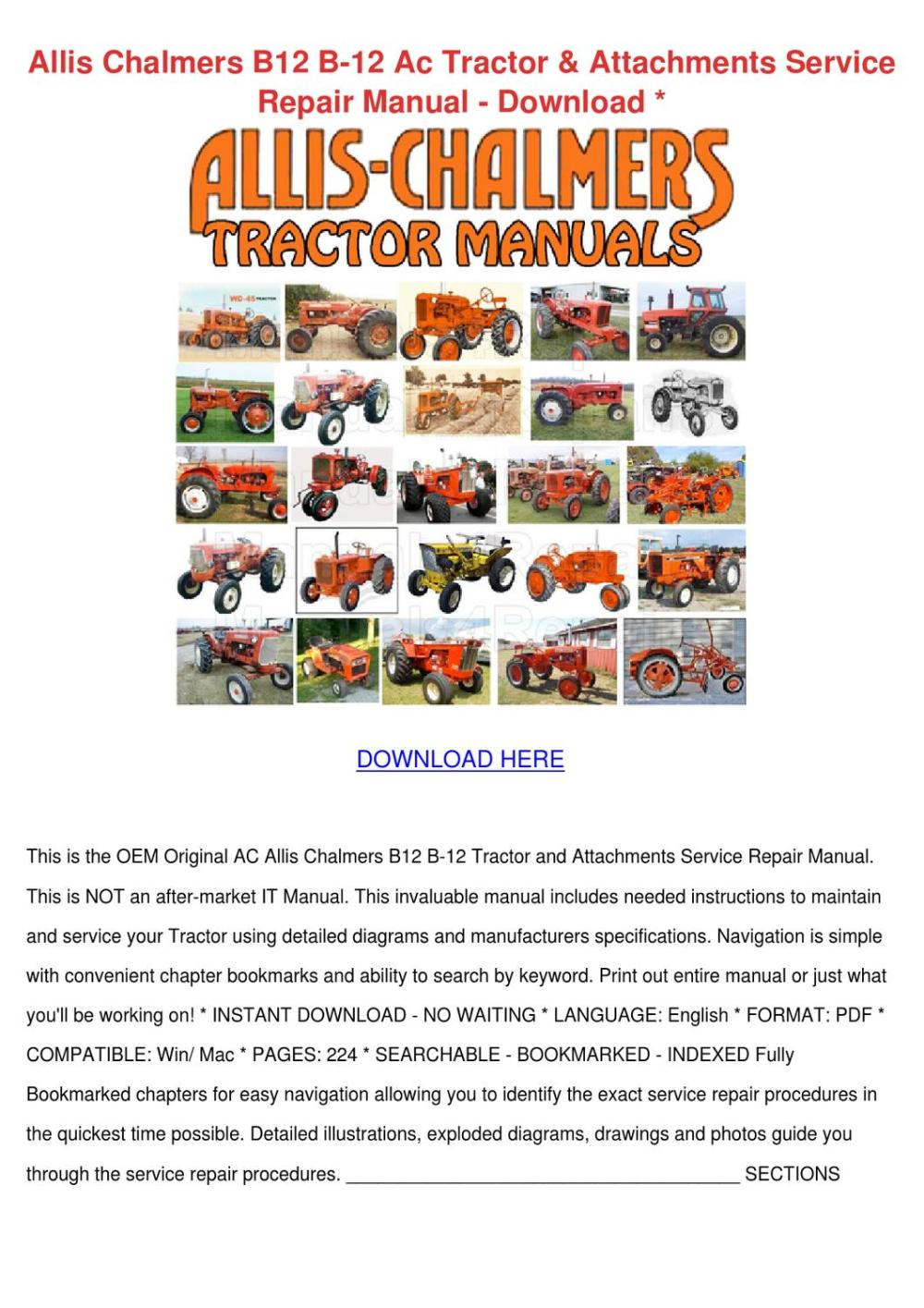 medium resolution of  12v relay wiring diagram allis chalmers b12 b 12 ac tractor attachment by johnette pamphile issuu