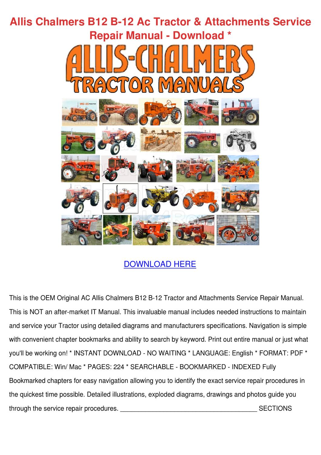 hight resolution of  12v relay wiring diagram allis chalmers b12 b 12 ac tractor attachment by johnette pamphile issuu
