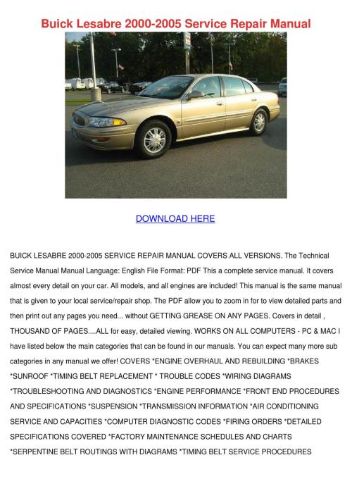 small resolution of 1998 buick regal gs service manual