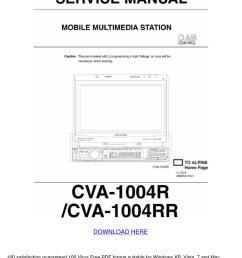 alpine cva 1004 r rr service workshop manual [ 1060 x 1500 Pixel ]